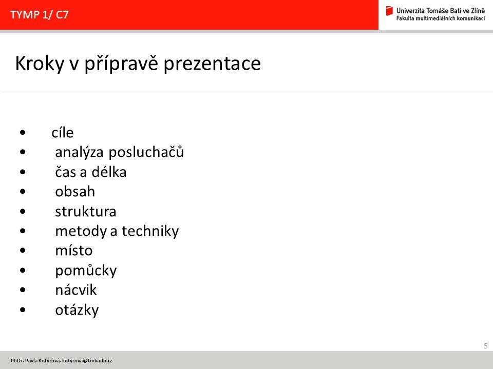 Kroky v přípravě prezentace