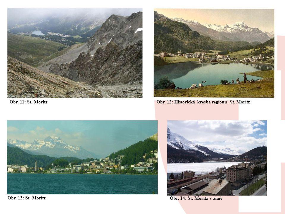 Obr. 11: St. Moritz Obr. 12: Historická kresba regionu St.