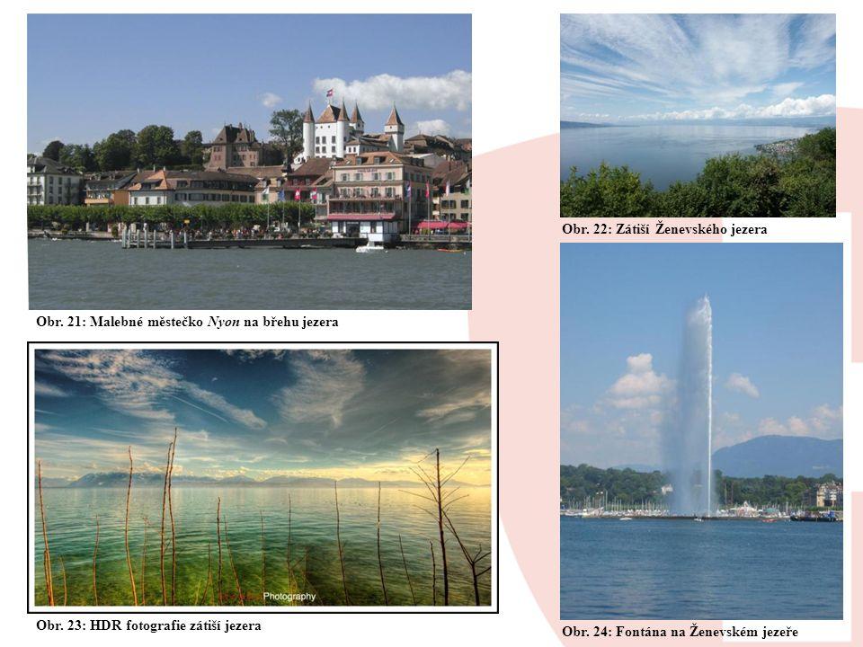 Obr. 22: Zátiší Ženevského jezera