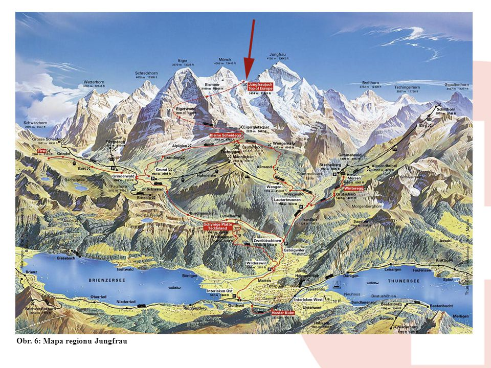 Obr. 6: Mapa regionu Jungfrau