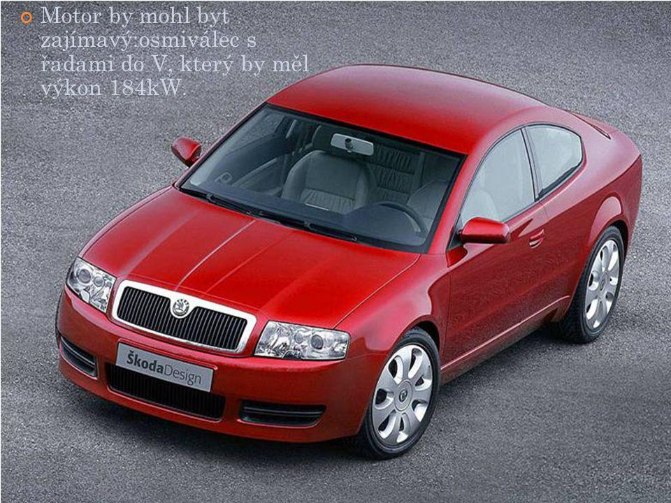 Motor by mohl byt zajímavý:osmiválec s řadami do V, který by měl výkon 184kW.