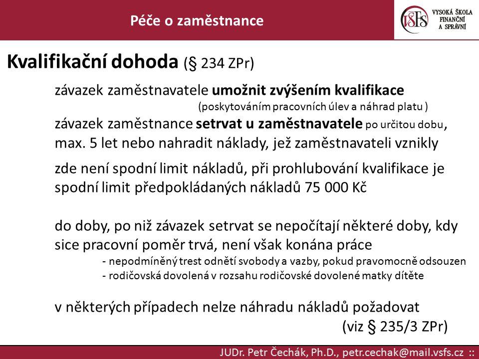 Kvalifikační dohoda (§ 234 ZPr)