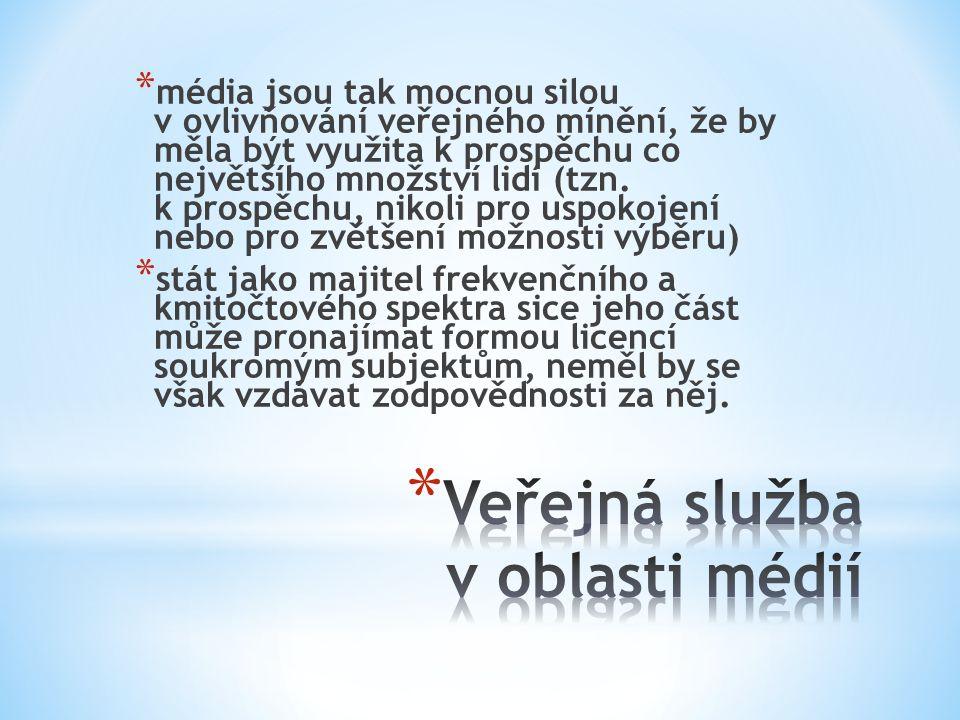 Veřejná služba v oblasti médií