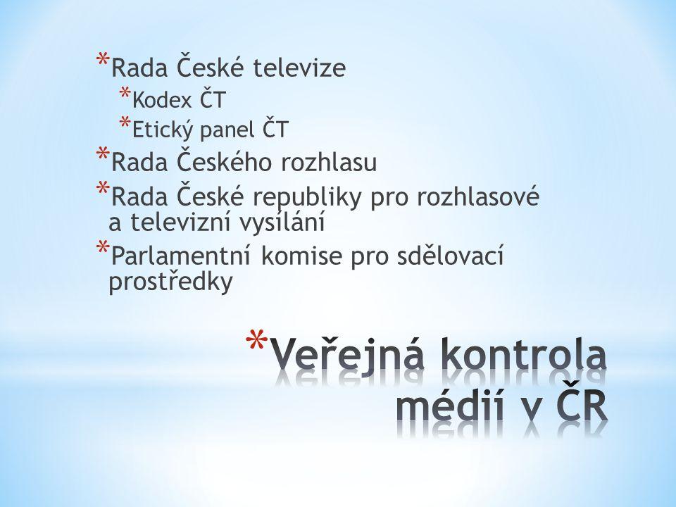 Veřejná kontrola médií v ČR
