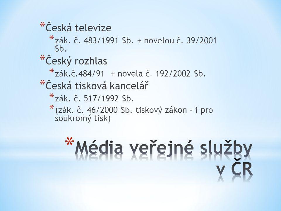 Média veřejné služby v ČR