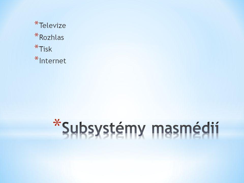 Televize Rozhlas Tisk Internet Subsystémy masmédií
