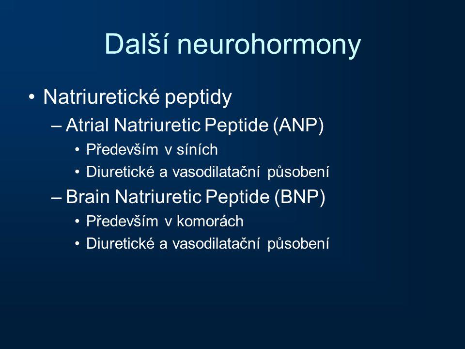 Další neurohormony Natriuretické peptidy