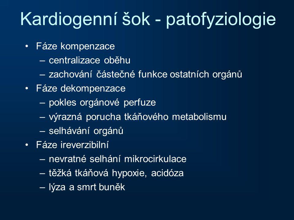 Kardiogenní šok - patofyziologie