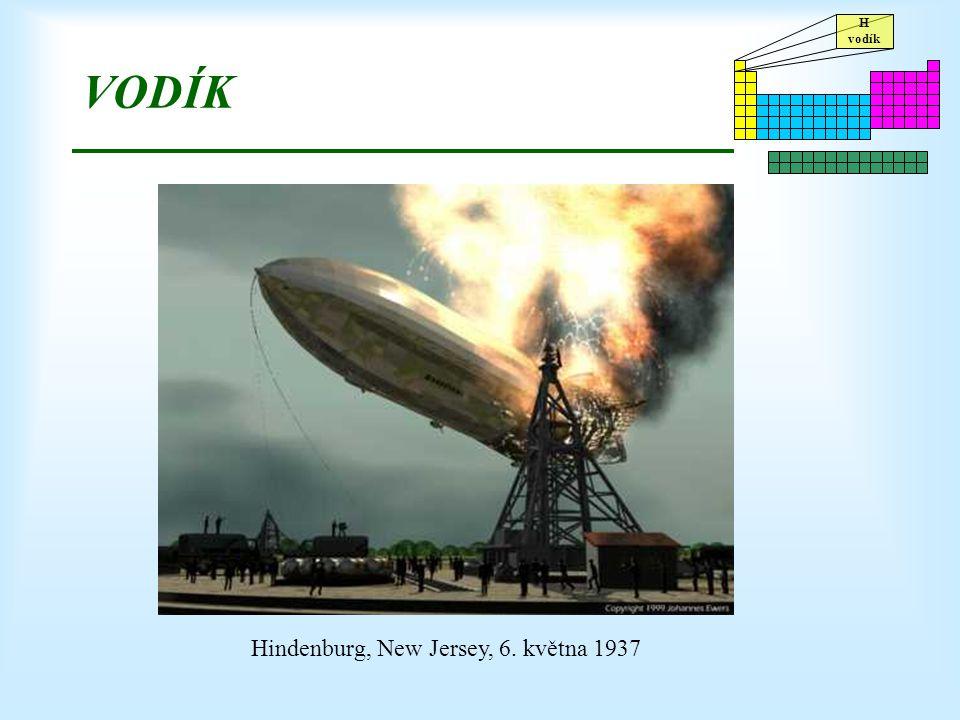 VODÍK Hindenburg, New Jersey, 6. května 1937
