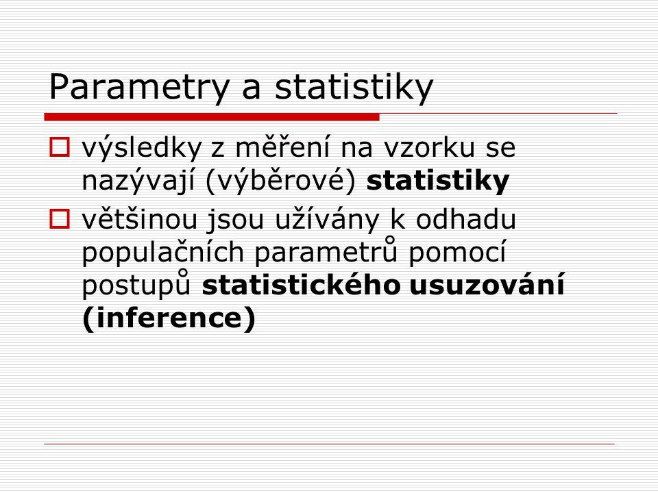 Parametry a statistiky
