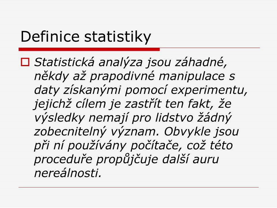 Definice statistiky
