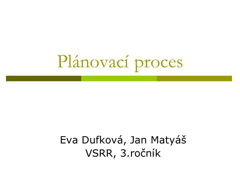 Eva Dufková, Jan Matyáš VSRR, 3.ročník