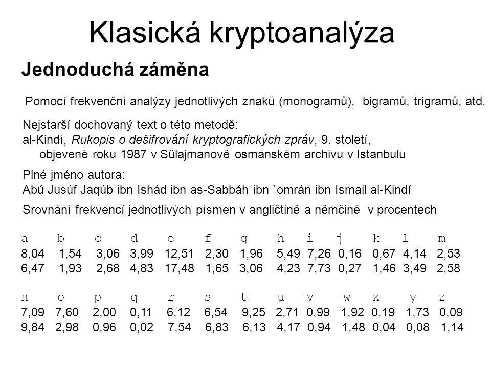 Klasická kryptoanalýza