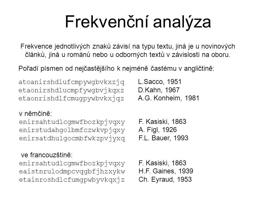 Frekvenční analýza