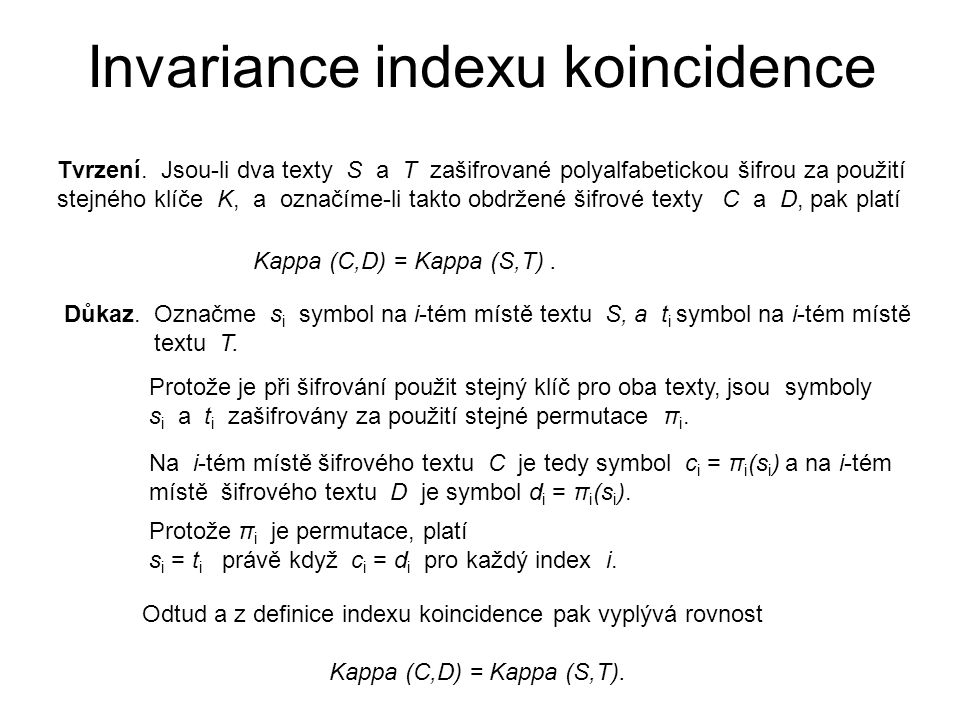 Invariance indexu koincidence