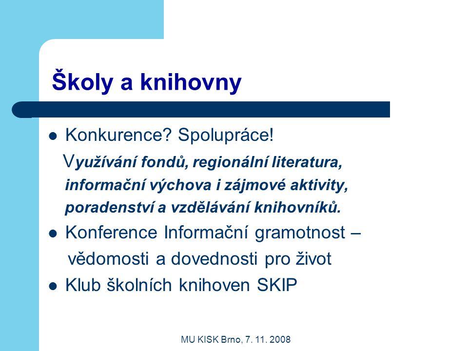 Školy a knihovny Konkurence Spolupráce!