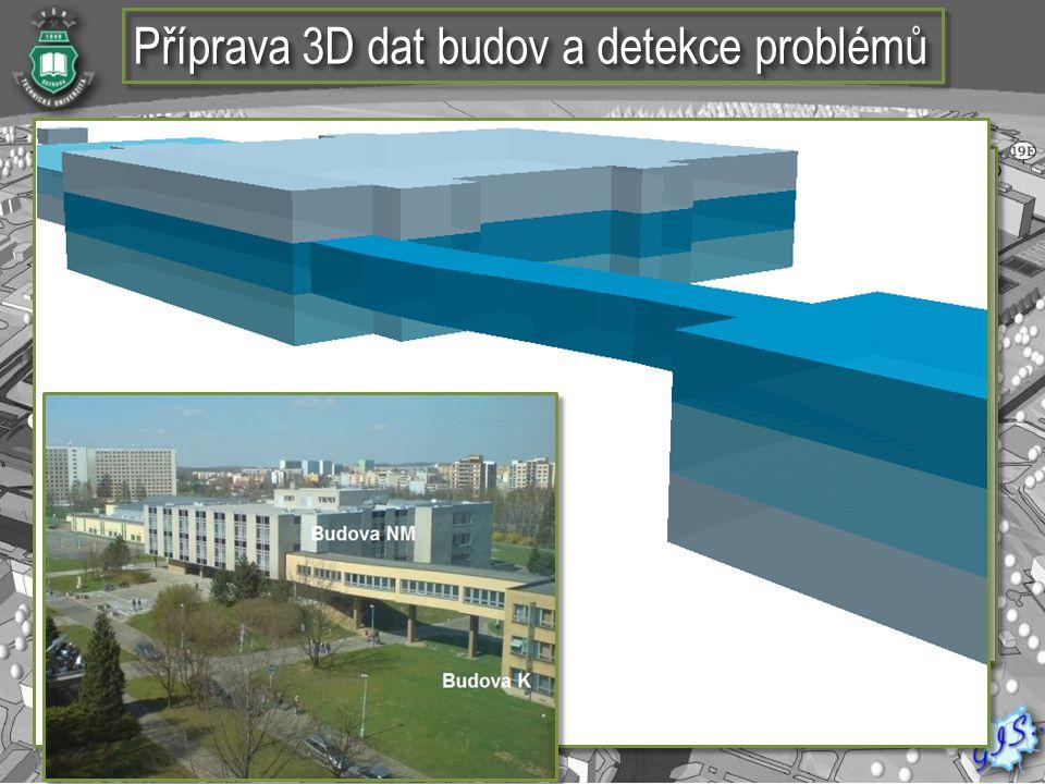 Příprava 3D dat budov a detekce problémů
