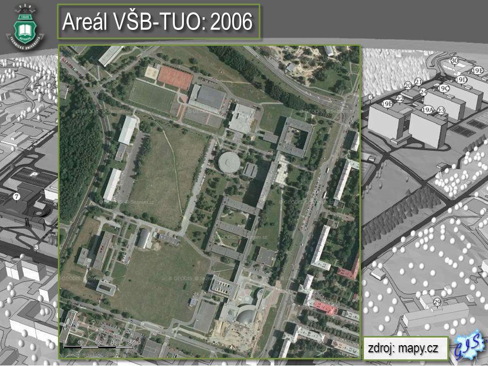 Areál VŠB-TUO: 2006 zdroj: mapy.cz