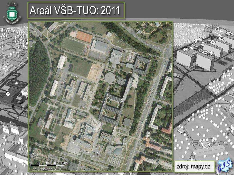 Areál VŠB-TUO: 2011 zdroj: mapy.cz