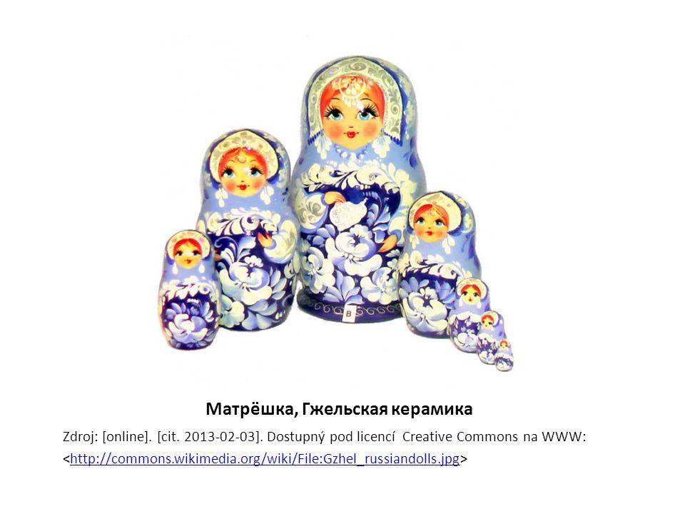 Матрёшка, Гжельская керамика