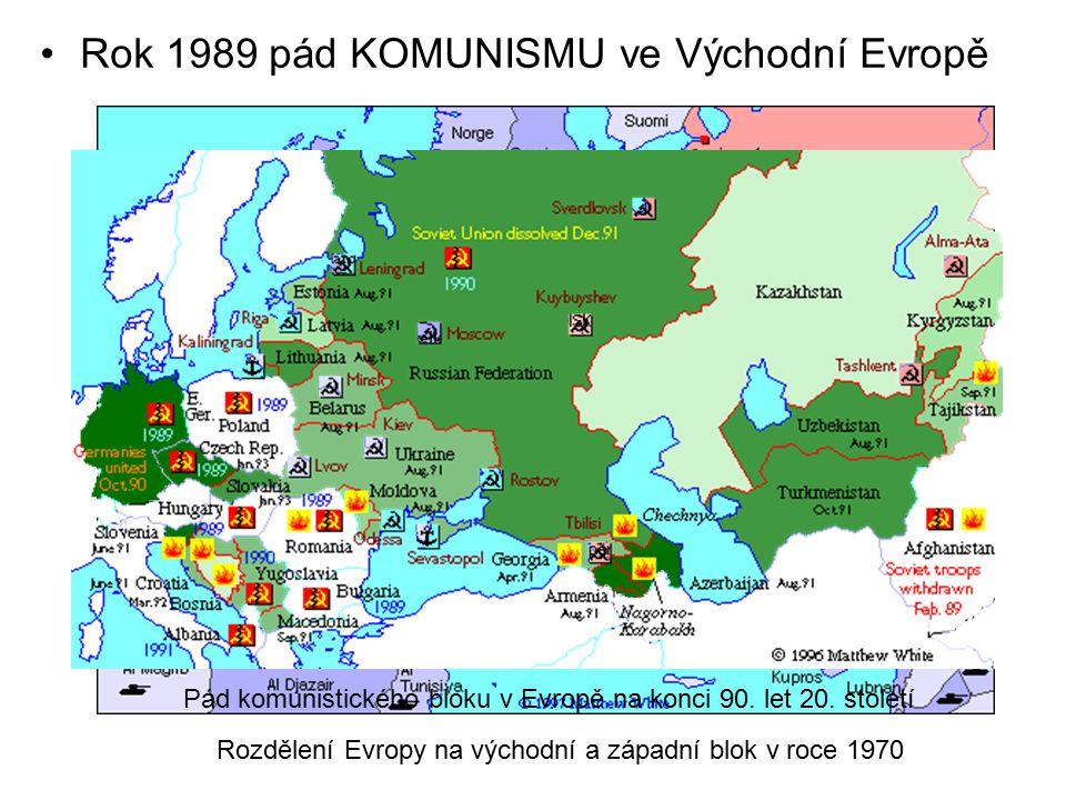 Rok 1989 pád KOMUNISMU ve Východní Evropě