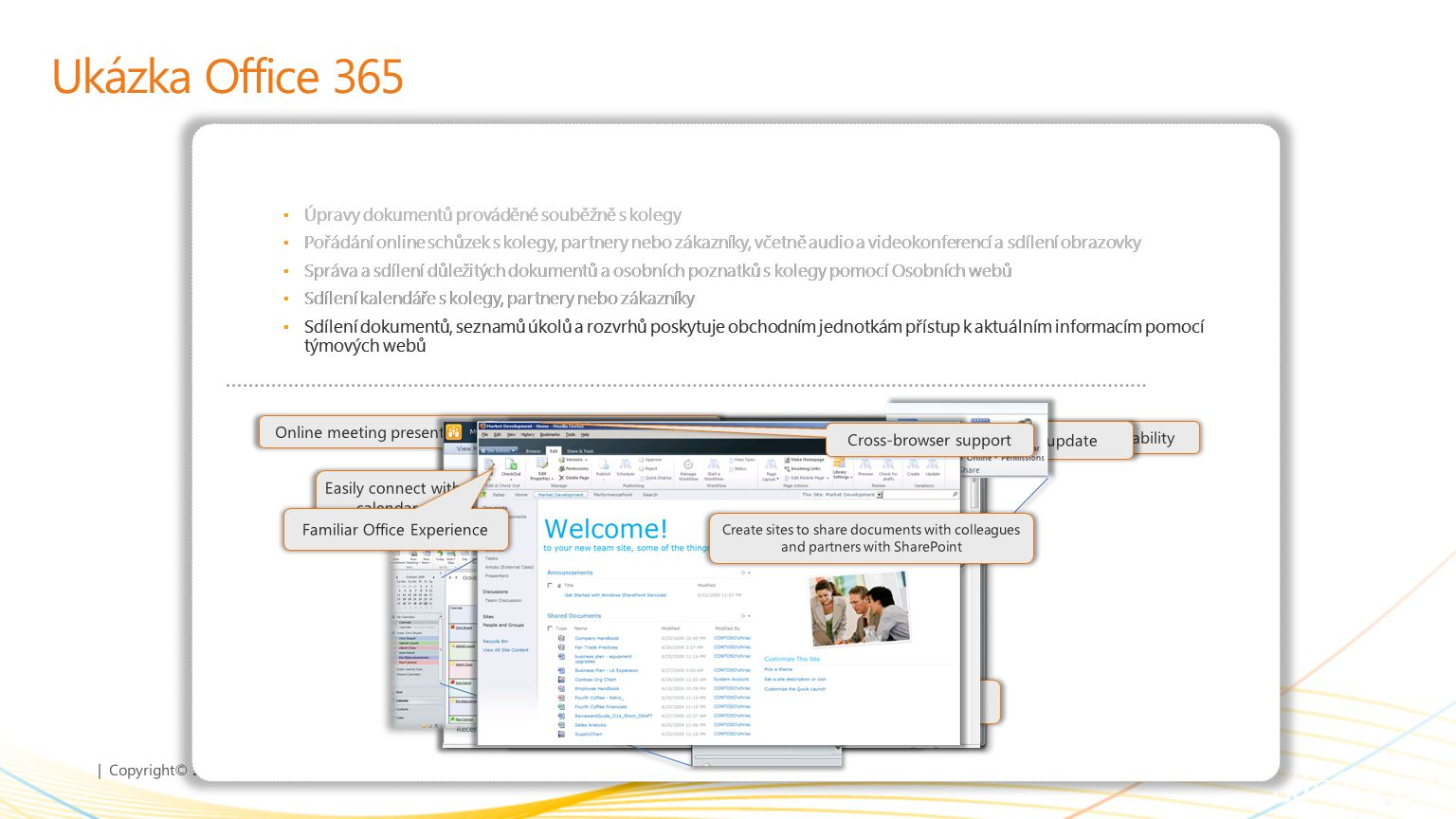 Ukázka Office 365 Úpravy dokumentů prováděné souběžně s kolegy