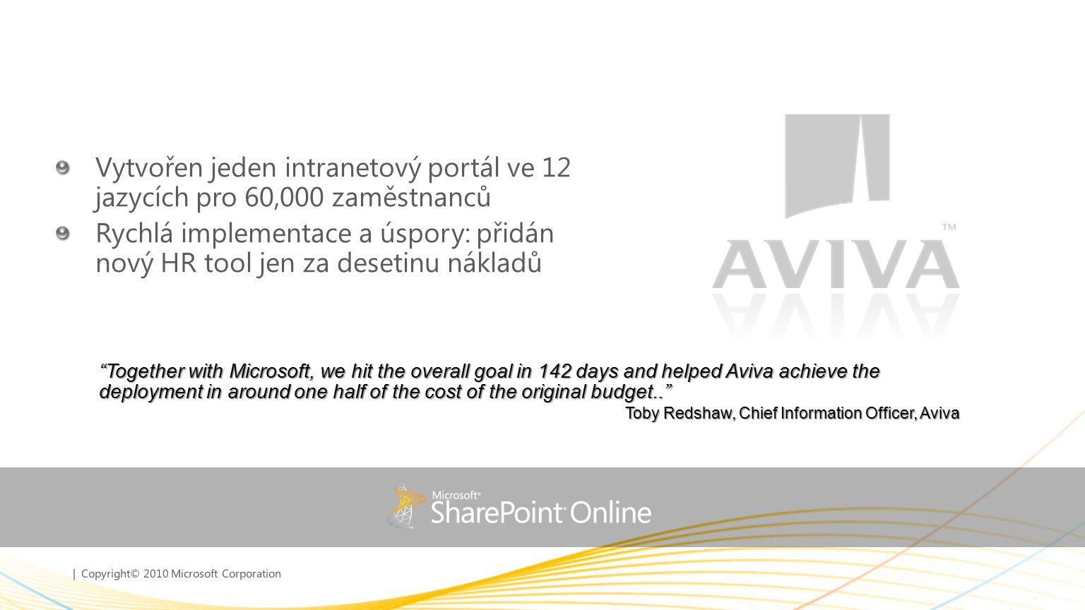 Vytvořen jeden intranetový portál ve 12 jazycích pro 60,000 zaměstnanců