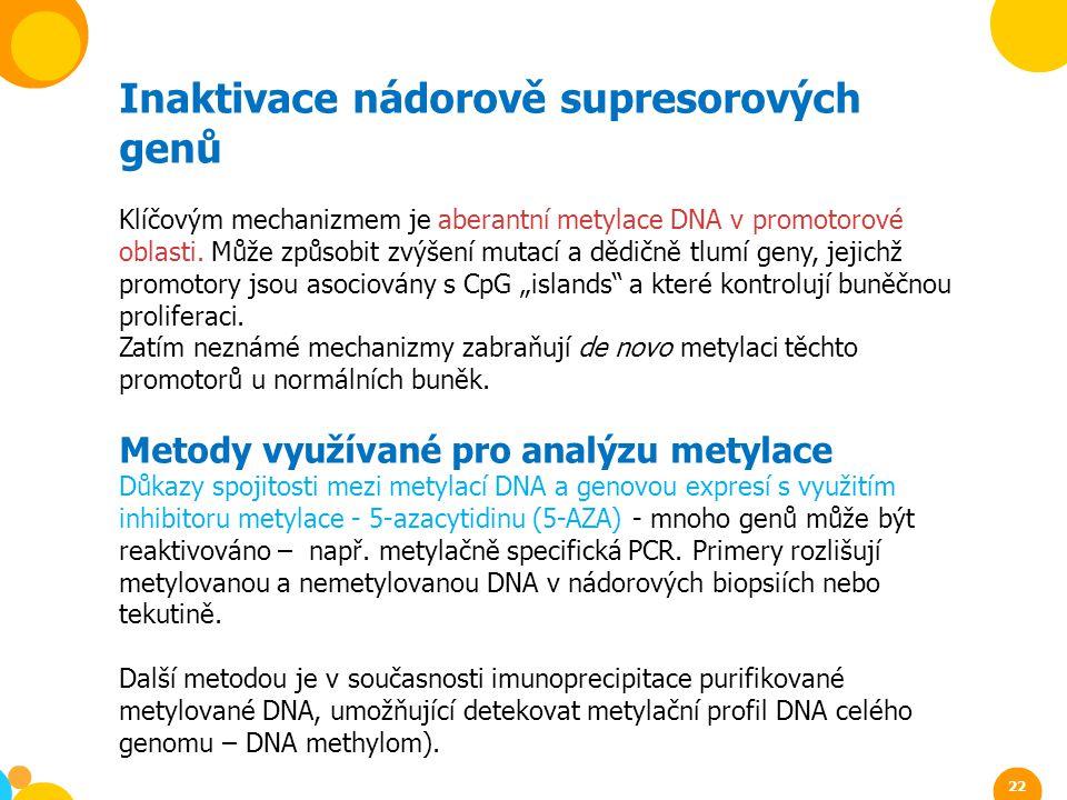 Inaktivace nádorově supresorových genů