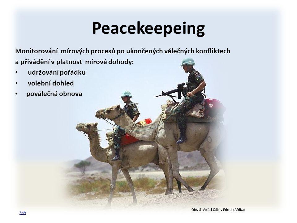 Obr. 8 Vojáci OSN v Eritrei (Afrika)