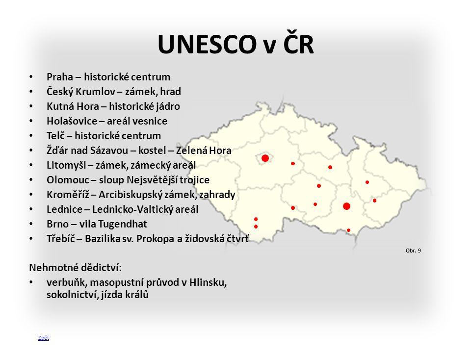 UNESCO v ČR Praha – historické centrum Český Krumlov – zámek, hrad