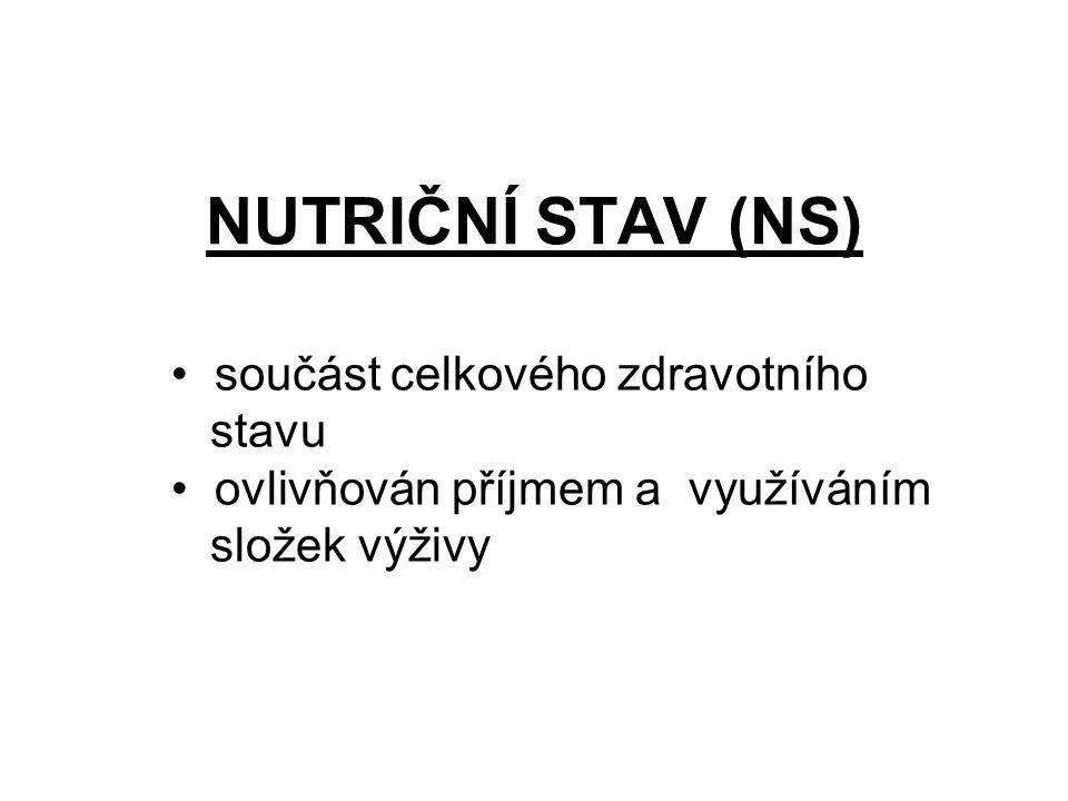 NUTRIČNÍ STAV (NS) součást celkového zdravotního stavu