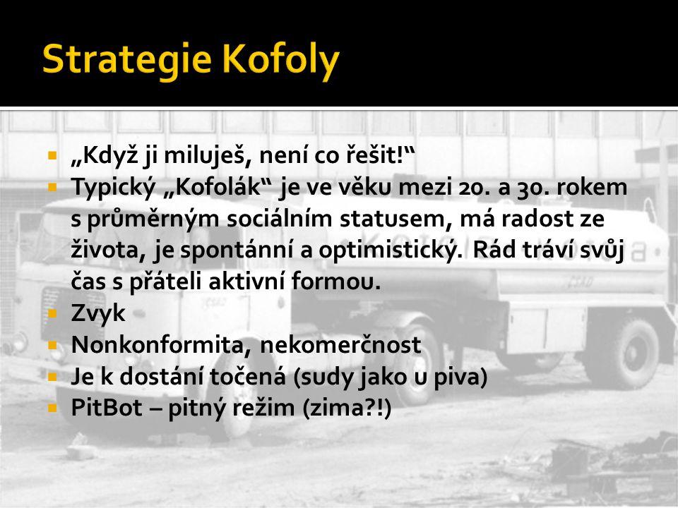 """Strategie Kofoly """"Když ji miluješ, není co řešit!"""