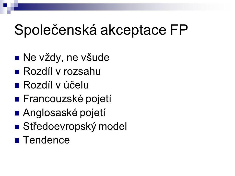 Společenská akceptace FP