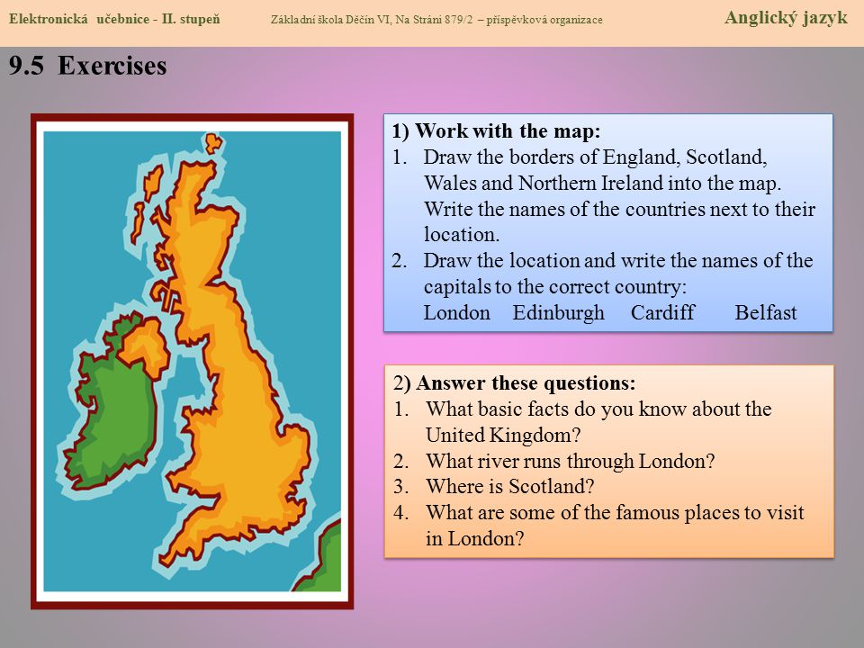 9.5 Exercises 1) Work with the map: