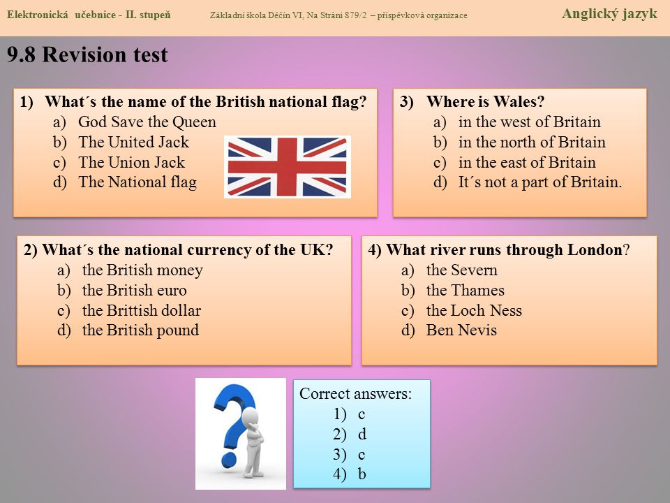 9.8 Revision test What´s the name of the British national flag