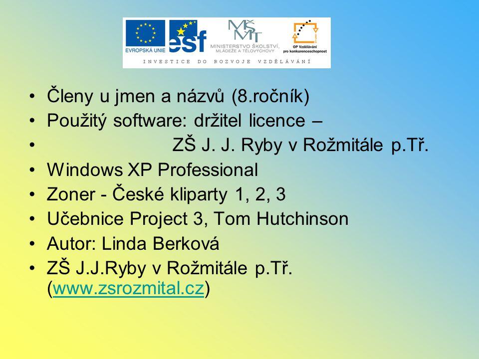 Členy u jmen a názvů (8.ročník)