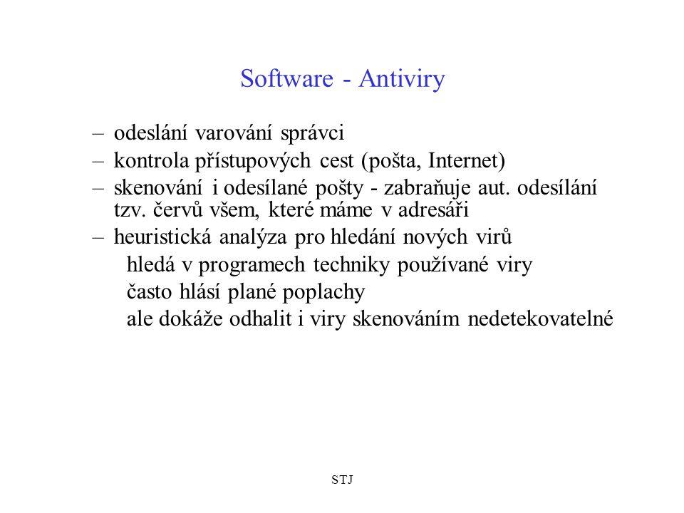 Software - Antiviry odeslání varování správci
