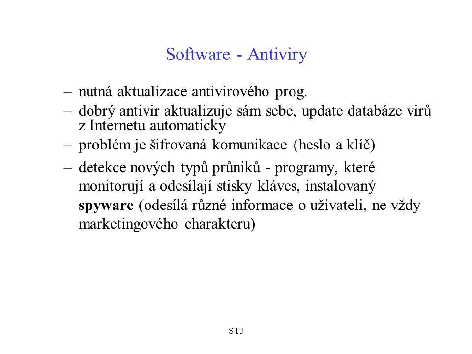 Software - Antiviry nutná aktualizace antivirového prog.