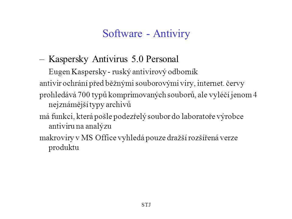 Software - Antiviry Kaspersky Antivirus 5.0 Personal