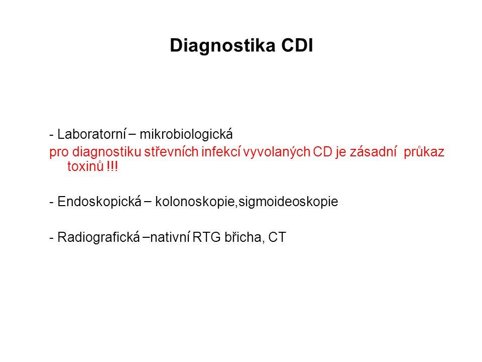 Diagnostika CDI - Laboratorní – mikrobiologická