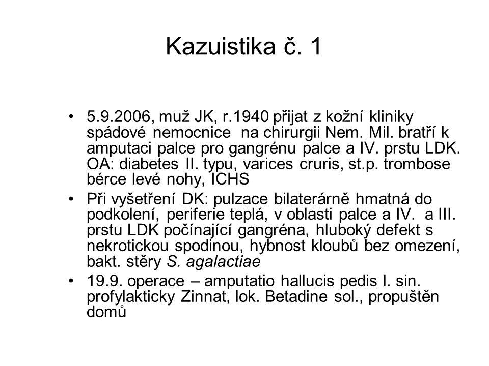 Kazuistika č. 1