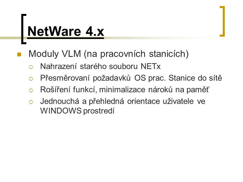 NetWare 4.x Moduly VLM (na pracovních stanicích)