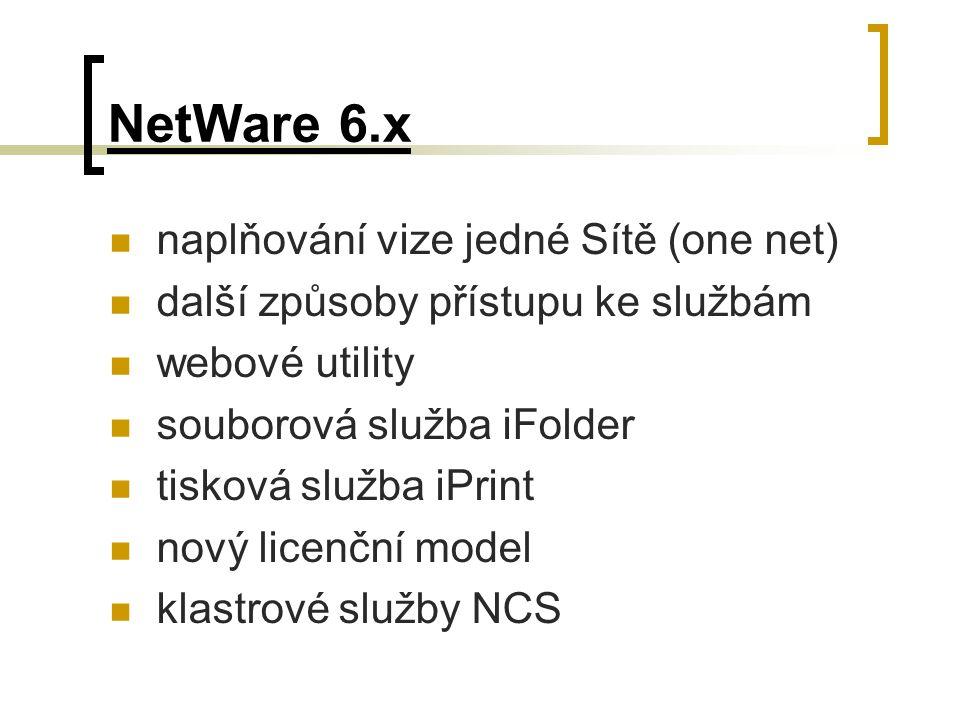 NetWare 6.x naplňování vize jedné Sítě (one net)