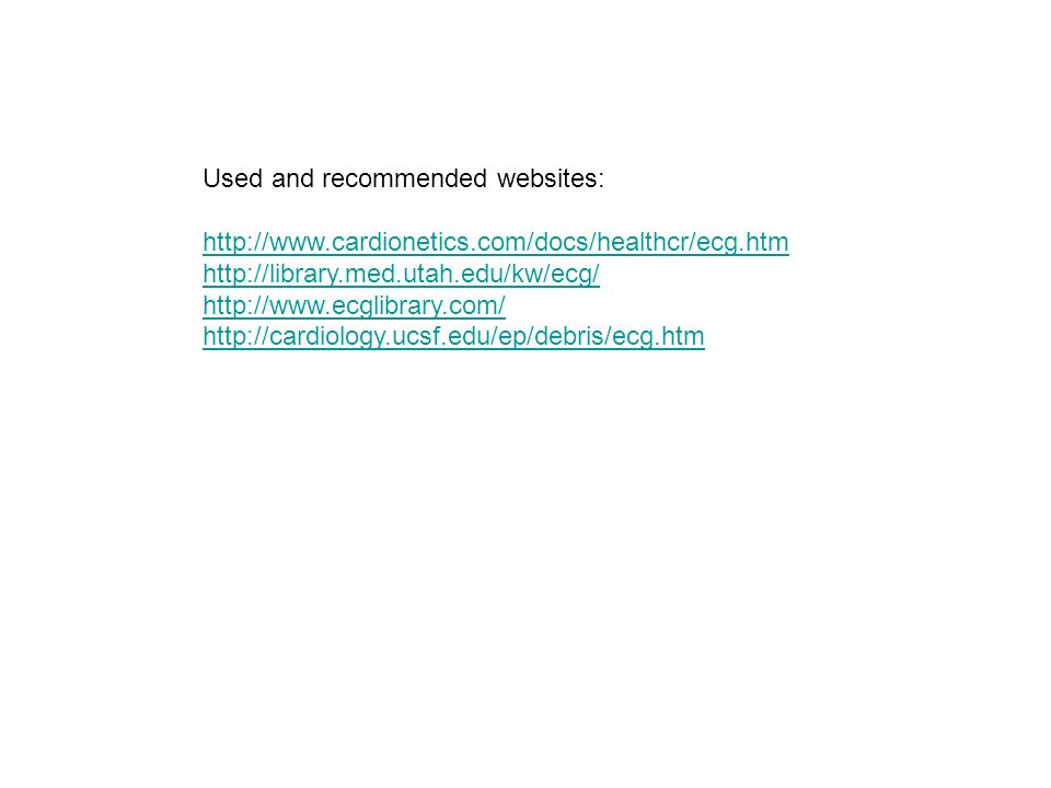 Used and recommended websites: