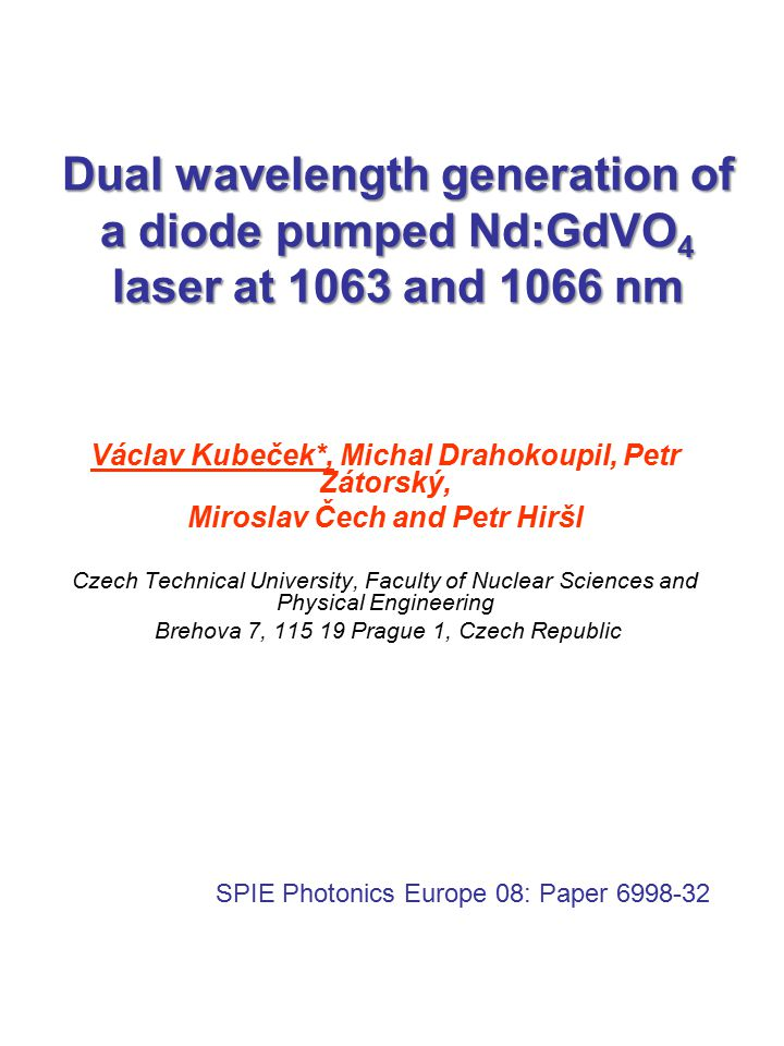Dual wavelength generation of a diode pumped Nd:GdVO4 laser at 1063 and 1066 nm