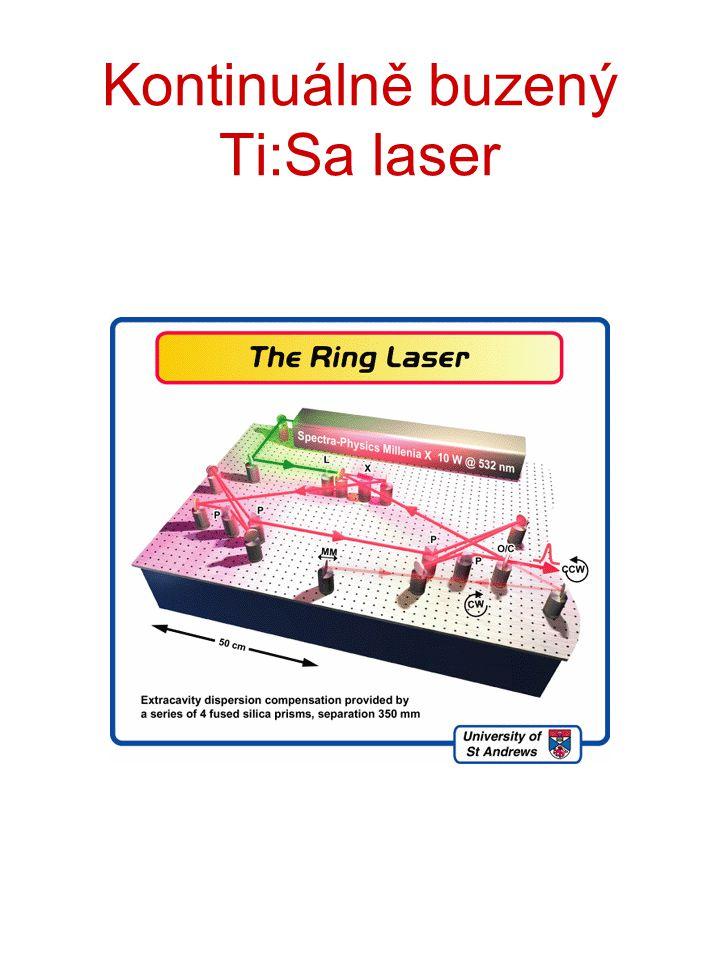 Kontinuálně buzený Ti:Sa laser