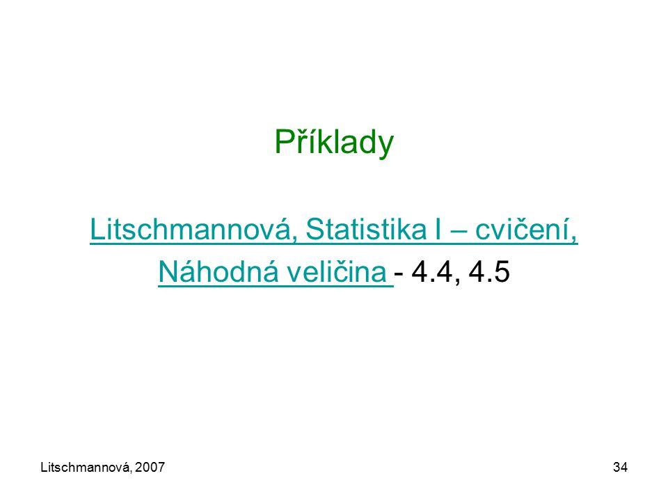 Litschmannová, Statistika I – cvičení,