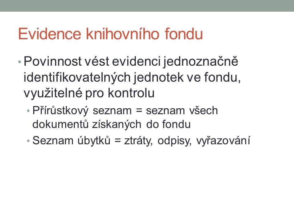Evidence knihovního fondu