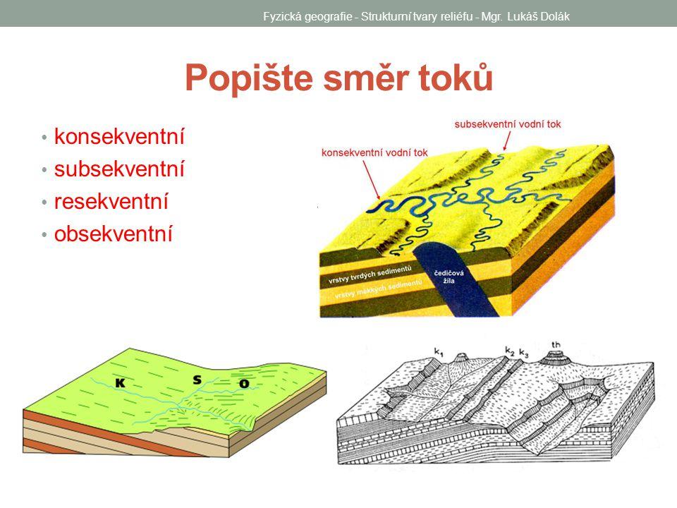 Fyzická geografie - Strukturní tvary reliéfu - Mgr. Lukáš Dolák