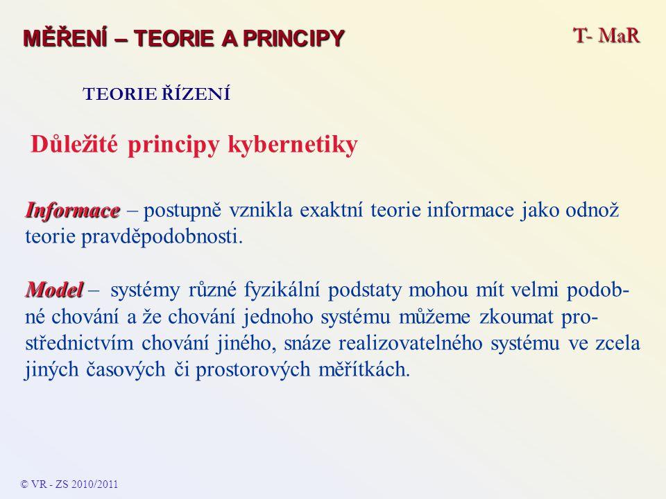 Důležité principy kybernetiky